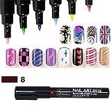 16 Farben Nail Art Pen Nagellack Stift 3D Nail Art Dekoration DIY Nagel-Design Profi Nagellack Stift-Set Molie
