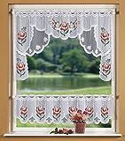 Scheibengardinen-Set mit Blumenmuster bunt