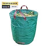 Gartensack mit extra 272L Fassungsvermögen und einer Stärke von 150g/m²   Sack ist extrem wasserabweisend und reißfest - Perfekt geeignet für Garten, Gartenarbeit & Outdoor von GardenTastico