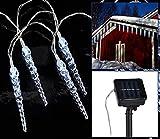 Gravidus Solar LED Eiszapfen-Lichterkette Weihnachten