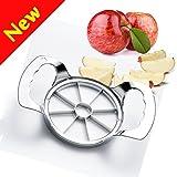 Apfelteiler,W-Unique Edelstahl Apfelausstecher um Kern und Slice Äpfel in 8 gleich große Teile