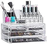 Solly´s ANNA Aufbewahrungsbox für Make Up und Schmuck, Kosmetik Organizer aus Acryl, Schmuckkästchen, Schubladenbox Schminke