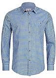 Stockerpoint Trachtenhemd OC-Martl | kariert | Regular Fit (L, Blau)