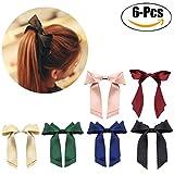 Fascigirl 6 StüCk Bogen Haargummi Haar Seil Krawatte Doppelschicht Band Bogen Pferdeschwanz Inhaber für MäDchen