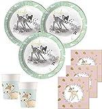 36 Teile Disney Bambi Deluxe Party Deko Set für 8 Personen