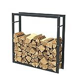 Brennholzregal Kaminholzständer Kaminholzregal Feuerholzregal Kaminholzhalter Brennholz 100 x 100 x 25 cm (Breite x Höhe x Tiefe) 34000.1