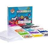 Bastelbär - 10.000 Bügelperlen in 14 verschiedenen Farben - inkl. 4teilige Jumbo-Steckplatte und Neon-Perlen