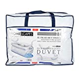 Homescapes extra warme Premium Winter Bettdecke, 135 cm x 200 cm, Steppdecke Wärmeklasse 6 - Entenfedern und Daunen Winterbettdecke