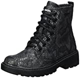 Geox Mädchen J Casey Girl K Combat Boots, Schwarz (Black), 38 EU
