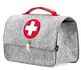 Stil-Macher Arztkoffer aus Filz VEGAN | Doktortasche aus weichem Filzstoff | 23x32x15 cm (HxBxT) | Zum aufbewahren von Spielzeug und Medikamenten