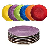 esto24 Design 6er Set Kuchenteller Dessertteller ESS Teller Porzellan19cm tollen Farben