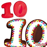 Backformen-Set Zahl 1 und 0 für 10. Geburtstag / Hochzeitstag, Silikonbackformen