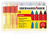 Eberhard 521009 Faber 521009-Wachsmalkreide mit Schiebehülse und Rutschbremse, Mehrfarbig