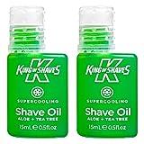 King of Shaves - Rasieröl Supercooling - mit Kühleffekt - 15 ml - Doppelpack