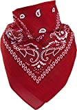 Harrys-Collection Bandana Bindetuch 100% Baumwolle 1 er 6 er oder 12 er Pack!, Farbe:12x rot