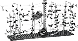 Playtastic Kugelbahn: Professionelle Kugel-Achterbahn, 682-teiliger Mega-Bausatz (Kugelbahn mit Looping)