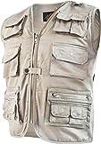 Outdoor Weste Safari mit vielen praktischen Taschen Farbe Khaki Größe M