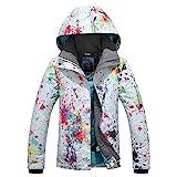 APTRO Damen Skijacke warm Jacke gefüttert Winter Jacke Regenjacke Weiß 9896 M