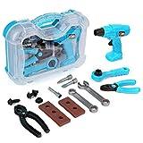 Ucradle Werkzeugkoffer 14 Stücke für Kinder - Pädagogisches Lernen Spielwerkzeug Rollenspiele Spielset Geschenk für 3-8 jährige Mädchen Jungen