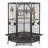 Montana Cages  | Eck Voliere Käfig XXL Vogelkäfig Denver II - in Antik