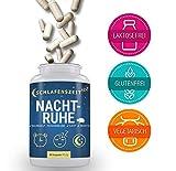 Nachtruhe - Premium Schlaf-Supplement To-Go mit 5-HTP - 60 Kapseln - Schlafoptimierer - Entspannung & besserer Schlaf - Vitamin-B Komplex mit Baldrian & Passionsblume