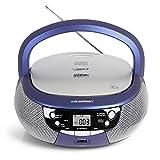 Blaupunkt B 4 PLL Boombox mit UKW PLL Radio | CD-Player | USB-Anschluss | Aux IN / MP3 | Stereo-Lautsprecher | Netz- und Batterie-Betrieb | Kinder Musikbox in blau