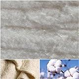Baumwoll-Volumenvlies 100g/m² 200g/m² aus ungebleichter 100% Baumwolle | Baumwollvlies Baumwolle Baumwollwatte Steppen Quilten Ökotex (100x200cm, 200g/m² (Stärke: ca. 18mm))