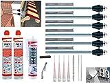 Fischer Thermax Befestigungsset 6 x 16/170 M12 Hochleistungsmörtel FIS V 300 T Multi Kleb und Dichtstoff KD-290 Zylinderbürste