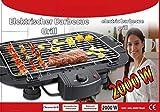 FRX elektrischer BBQ Tischgrill rauchfrei Elektrogrill 2000W Barbecue Balkongrill Partygrill
