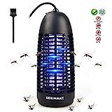 DEKINMAX Elektrischer Insektenvernichter, UV Insektenvernichter Mückenlampe Schutz vor Elektrischem SchlagTragbare Insektenlampe gegen