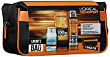 L'Oreal Men Expert Sports-Bag, Hydra Energy 24H Feuchtigkeitspflege (50 ml), Invincible Sport Deo Spray (150 ml), Invincible Sport Duschgel (200 ml) plus gratis Kulturtasche