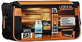 L'Oreal Men Expert Sports-Bag, Hydra Energy 24H Feuchtigkeitspflege (50 ml), Invincible Sport Deo Spray (150 ml), Invincible Sport Duschgel (200 ml) plus gratis Kulturtasche