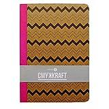 A6 Fall gebunden Qualität Notizbuch - CMYK-KRAFT-Wellen - 160 Seiten - Liniert - Größe 148mm x 105mm