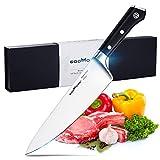 Kochmesser von Godmorn Profi 20cm Küchenmesser, Chefmesser, Gemüsemesser, Allzweckmesser AUS-8 Japanische Edelstahl Professionelle Küchenmesser mit G10 Griff