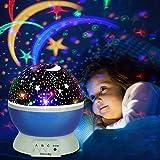 Projektor Lampe, Omitium LED Sternenhimmel Projektor Nachtlicht 360°Drehbare Kinder Lampe, Einschlafhilfe mit Farbspiel, Perfekt für Kinderzimmer, Schlafzimmer, Geburtstag, Parteien, Weihnachten