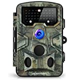APEMAN Wildkamera Fotofalle 12MP 1080P Full HD Jagdkamera Gartenkamera 120°Breite Vision Infrarote 20m Nachtsicht 2.4' LCD Tierbeobachtungskamera