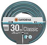 Gardena Classic Schlauch Universeller Gartenschlauch aus robustem Kreuzgewebe, 22 bar Berstdruck, druck- und UV-beständig, 13 mm, 1/2 Zoll, 30 m