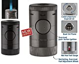 Xikar Tischfeuerzeug Volta Quad Jet-Flamme schwarz inkl. Lifestyle-Ambiente Tastingbogen