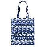 AlleGt Damen Schulter Handtasche Mädchen Casual Tribe Tasche Große Kapazität Wochenende Tote Shopper Geldbörse Mummy Wickeltasche (Blau Elefant)