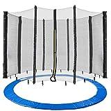 Arebos Trampolin Randabdeckung und Netz / 244, 305, 366, 396, 430, 460 und 490 cm/für 6 und 8 Netzstangen (460 cm, Netz für 8 Stangen)