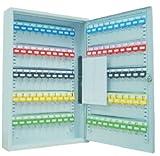 Schlüsselkasten / Schlüsselschrank 550x380x80 mm, 100 Haken, lichtgrau, inkl. Schlüsselanhänger