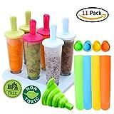 Eisformen 11 Stück Eis am Stiel Formen Einstellen Eislutscher Hersteller für Kinder und Erwachsene Eisformen Silikon BPA FREI