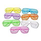 S/O 6er Pack Partybrille Bunt 6 Farben erhältlich Partybrillen Bunt Gitterbrille Spaß Spass Brille Atzen Brillen Party Brille