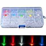 Bluelover 300Pcs 5 Mm Led Dioden Gelb Rot Blau Grün Weiß Sortiment Licht Diy Kit