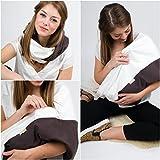 MANIA Stillschal Stilltuch 'Milchcafe' mit Einschub für Stilleinlage in Größe S-M, Handarbeit!