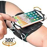 Bovon Handy Armband, 360° Drebares Atmungsaktives Sportarmband für iPhone XS Max/XR/XS/X, Galaxy Note 9/S9/S8 Plus, Oberarm Handytasche mit Schlüsselhalter für Joggen Radfahren Wandern