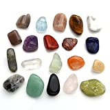 JOVIVI Naturstein Set Heilstein Chakra-Set 20x verschieden Edelsteine Trommelsteine Set Formlos Natural Gemstones (Modell 1)
