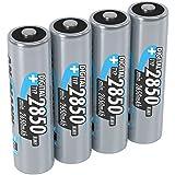 ANSMANN wiederaufladbare Akku Batterien Mignon AA, 1,2V / Typ 2850mAh, NiMH / Schnellladeakku mit hoher Kapazität ohne Memory-Effekt - ideal für Kameras, Blitzgeräte & Fernbedienungen, 1 x 4 Stück