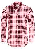 Stockerpoint Trachtenhemd OC-Franzl | kariert | Regular Fit (L, Rot)