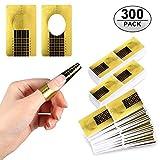 Nagel-Schablonen, Yosemy 300 Stück Modellier-Schablone selbstklebend für Gel-Nägel & Nagel-Verlängerung Golden Schablonen